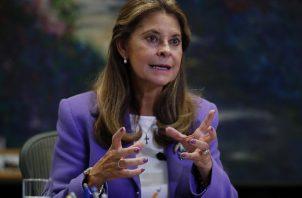 La vicepresidenta de Colombia, Marta Lucía Ramírez. Foto: EFE