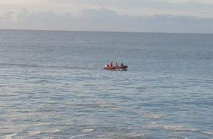 Las labores de búsqueda y rescate reiniciaron a primeras horas de la mañana. Foto: Eric Montenegro.