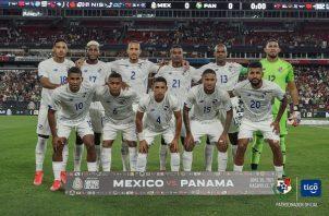 Equipo titular de Panamá que enfrentó a México. Foto:Fepafut
