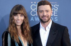 Jessica Biel y su marido el actor y cantante Justin Timberlake. Foto: EFE
