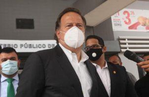 Juan Carlos Varela en una de sus comparecencias a la Fiscalía Anticorrupción por el caso Odebrecht. Foto: Archivo