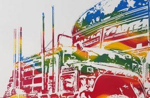 Una de las obras de 'Piquera : Encre et couleur'. Foto: Cortesía