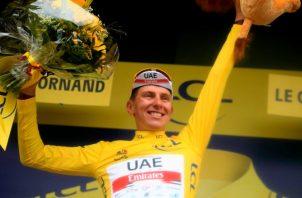 Tadej Pogacar es el defensor del título del Tour. Foto: EFE