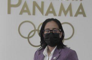 Damaris Young, presidenta del Comité Olímpico. Foto: Cortesía
