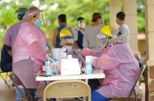 El distrito de La Chorrera suma 1,158 casos activos de covid-19, una cifra que mantiene alarmado al personal sanitario. Foto: Eric Montenegro