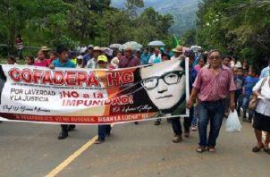 Cofadepa-HG, de manera silenciosa pero persistente, lleva dos décadas tratando de que se haga justicia a las víctimas de la dictadura. Foto: Archivo