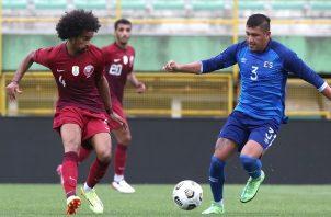Catar se impuso a El Salvador en su último amistoso. Foto:@QFA_EN