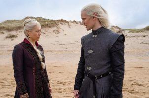 La princesa Rhaenyra Targaryen y el príncipe Daemon Targaryen. Foto: HBO / Twitter