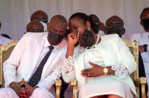 El presidente haitiano, Jovenel Moise (izq.), junto a la primera dama, Martine Moise. Foto: EFE