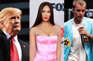 Donald Trump, Megan Fox y Justin Bieber. Foto: Instagram