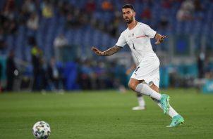 """El italiano Leonardo Spinazzola ha sido elegido en dos oportunidades de esta Eurocopa como """"el mejor jugador del partido"""". Foto Cortesía: @EURO2020"""