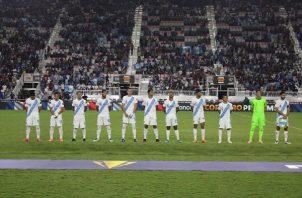Jugadores de Guatemala. Foto:Twitter