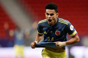 Luis Díaz jugador de Colombia. Foto:EFE