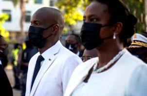 Martine Moise resultó herida de gravedad en ataque donde falleció el presidente Jovenel Moise de Haití. Foto: EFE