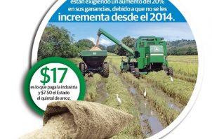 Los productores de arroz le dieron un periodo de una semana al MIDA para que se les otorgue el aumento del subsidio.