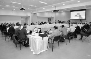 Representantes de la Mesa Plenaria para el Diálogo Nacional por la Caja de Seguro Social (DNC). Foto: Cortesía.