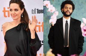 Angelina Jolie y The Weeknd. Foto: Instagram