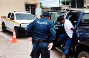El imputado llegó al Órgano Judicial en David, custodiado por unidades policiales. Foto: Mayra Madrid