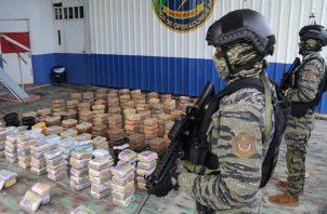 En total, se contabilizaron 470 kilos de presunta droga en el operativo. Foto: Eric A. Montenegro