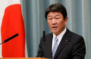 El ministro japonés de Asuntos Exteriores, Toshimitsu Motegi. Foto: EFE