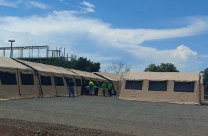 El hospital campaña está a un costado del hospital de la ciudad de Las Tablas. Foto: Thays Domínguez