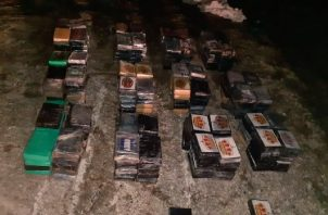 La droga fue ubicada en el área Galera, en la Comarca Guna Yala. Foto: Cortesía Senan