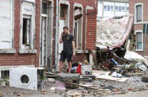 Bélgica se enfrenta a las inundaciones más catastróficas que haya visto. Foto: EFE