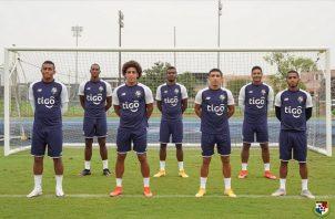 Jugadores panameños en su primera Copa Oro: Foto:Fepafut