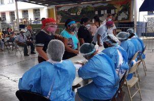 Continúa jornada de vacunación contra la covid-19 en Penonomé y Aguadulce. Foto: Cortesía Minsa