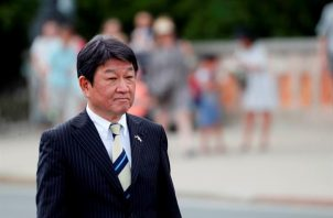 En la imagen, el ministro japonés de Asuntos Exteriores, Toshimitsu Motegi. Foto: EFE