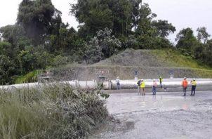 La empresa informó que envió un reporte en el que expone la rotura en la unión de soldadura de una tubería que transporta agua de proceso minero. Foto: Archivo