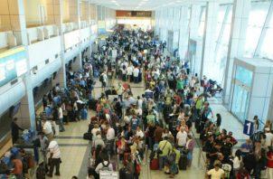 Norteamérica representó el 40.98% de movimiento de pasajeros en el Aeropuerto Internacional de Tocumen, en junio. Foto: Archivo