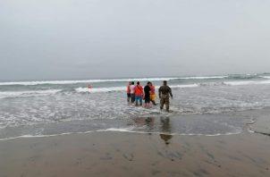 Esta es la segunda muerte por inmersión que se registra en esta área turística de la provincia de Los Santos. Foto: Thays Domínguez