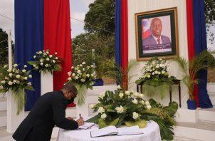 Ceremonia en honor al presidente haitiano, Jovenel Moise, asesinado el pasado 7 de julio. EFE