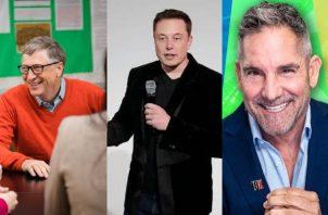 Bill Gates, Elon Musk y Grant Cardone. Fotos: Instagram / Internet