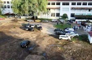 El proyecto del Hospital del Niño registra el remozamiento de los jardines. Archivo