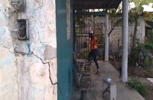 El Sinaproc llevó a cabo la evaluación de las viviendas afectadas por los últimos sismos en Chiriquí. Foto: Mayra Madrid