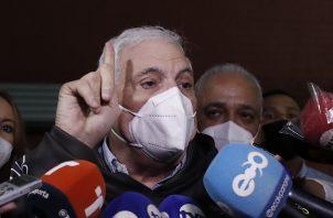 El exmandatario Ricardo Martinelli está seguro que volverá a ganar en este juicio, así como lo hizo en el 2019. Foto: EFE