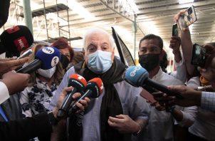 Ricardo Martinelli asistió hoy al tercer día del juicio oral que se sigue en su contra. Foto: Víctor Arosemena