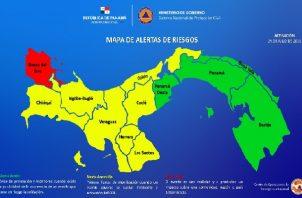 Preliminarmente el Sinaproc habría informado que más de 5 mil personas se vieron afectadas por las lluvias en todo el país Foto: Cortesía Sinaproc