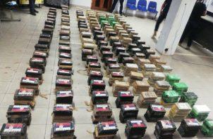 Decomisan drogas en puerto de Colón. Foto: Cortesía Ministerio Público