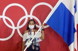 Kristine Jiménez está orgullosa de ser una atleta olímpica. Foto: Cortesía COP