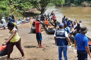 Unos 11,370 migrantes extrarregionales llegaron a Panamá entre enero y abril a través de la peligrosa ruta de la selva del Darién.