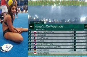 Emily Santos cumplió 16 años el 15 de julio. Foto: Cortesía Comité Olímpico de Panamá