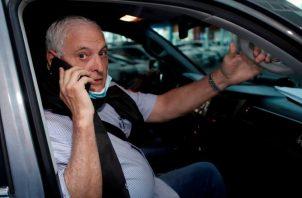 El expresidente de la República, Ricardo Martinelli volvió a reiterar su inocencia dentro del caso de supuestos pinchazos telefónicos. Archivo