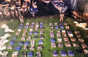 La sustancia ilícita fue puesta a órdenes de la Fiscalía de Drogas de Bocas del Toro. Foto Mayra Madrid