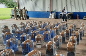 Se incautaron 75 bultos con unos 1,830 paquetes de sustancias ilegales que se presume sea cocaína. Foto: Melquiades Vásquez