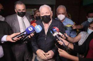 El expresidente de la República, Ricardo Martinelli, en reiteradas ocasiones ha señalado que están perdiendo el tiempo en este segundo juicio. Foto: Víctor Arosemena