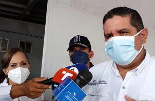 El ministro Juan Manuel Pino dijo que Panamá da trato humanitario a migrantes. Foto: Eric A. Montenegro