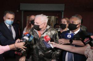 Esta es la segunda ocasión que el expresidente Ricardo Martinelli es llevado a este juicio. Foto: Víctor Arosemena